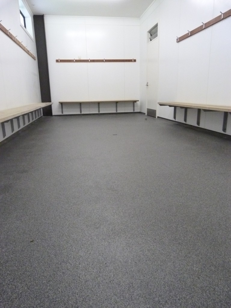 Brand new flooring in Toilets and Change Rooms – Thank you TDC!!